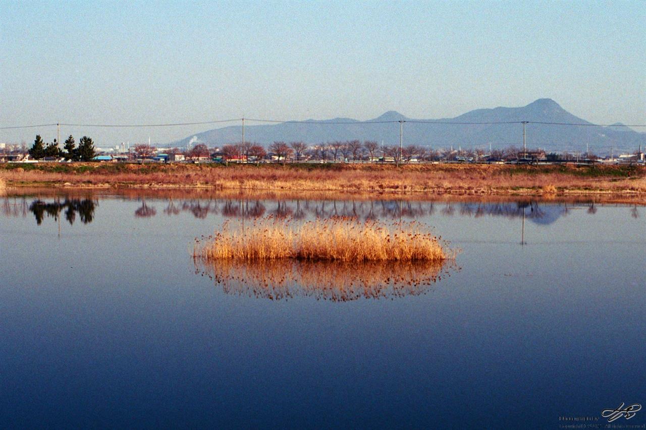 만경강 반영 (C200) 3월 중순의 아침 만경강(고산천) 풍경
