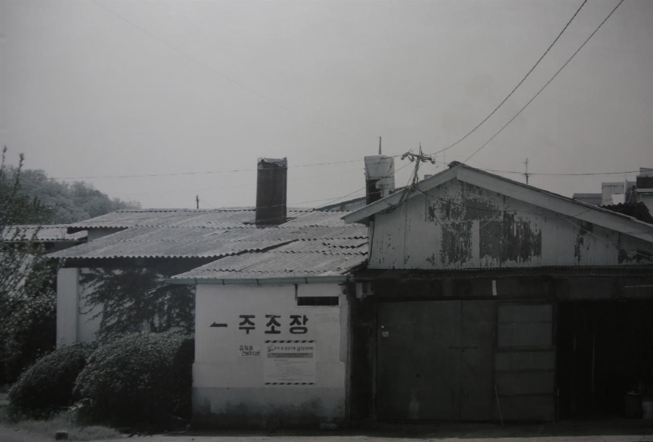 담양읍내에서 가장 큰 산업시설이었던 옛 해동주조장 전경. 막걸리가 호황을 누리던 시절, 해동주조장의 위상이 대단했다.