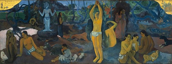 어디서 와서, 무엇이 되어, 어디로 가나(1897) 폴 고갱 Source: Wikimedia Commons