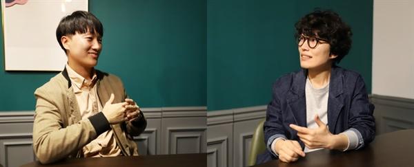 (순서대로)최영석 대표와 오영미 대표