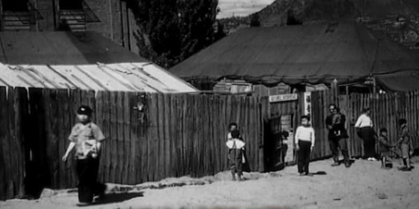 KBS부산 <한국의 슈바이처 장기려> 화면 캡처. 1951년 영도 천막명원