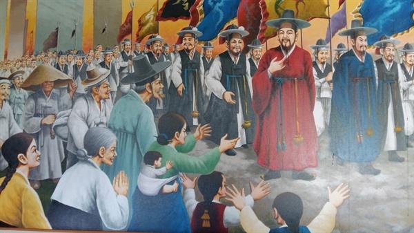 외교 능력이 탁월한 전상의 장군은 1617년에 회답사(回答使)로 일본에 파견돼 임진왜란과 정유재란 때 포로로 끌려간 우리 동포 150여 명을 귀국시키는데 큰 공을 세웠다
