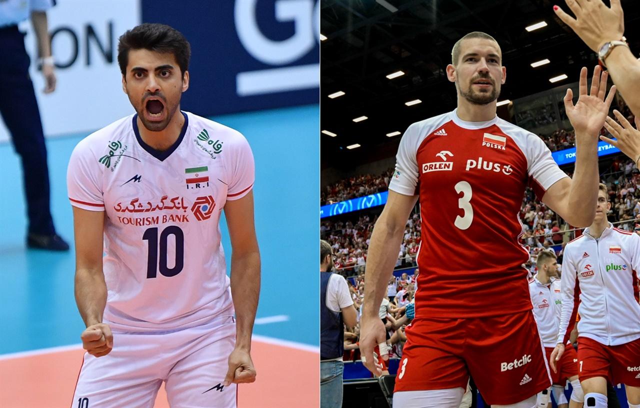 가푸르(이란·왼쪽)-코나르스키(폴란드) 선수