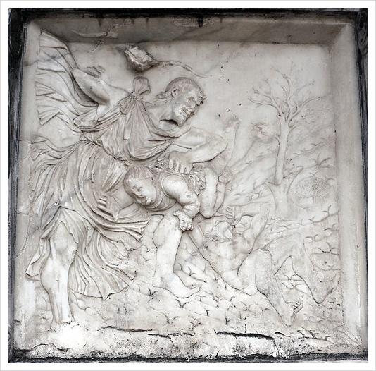 지오반니 안토니오 아마데오 <소년을 처벌하는 라멕> 베르가모의 콜레오니 성당