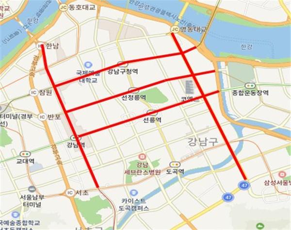 강남구 집합행위 금지 장소