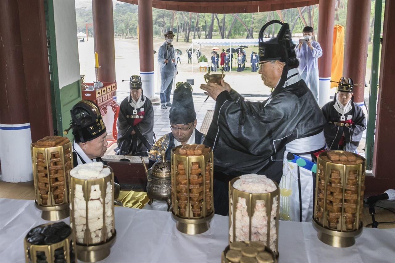 이날 헌관으로 참여한 김명준 세종대왕유적관리소장.