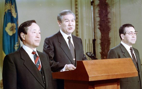 노태우, 김영삼, 김종필의 3당 합당