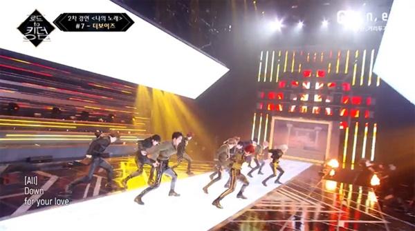 지난 21일 방영된 엠넷 '로드 투 킹덤'에 출연한 더보이즈.