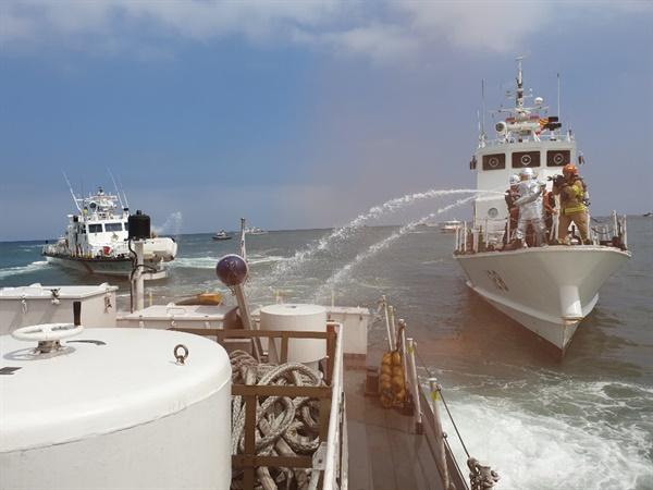 국제여객선 테러상황에 대비한 실전형 현장훈련