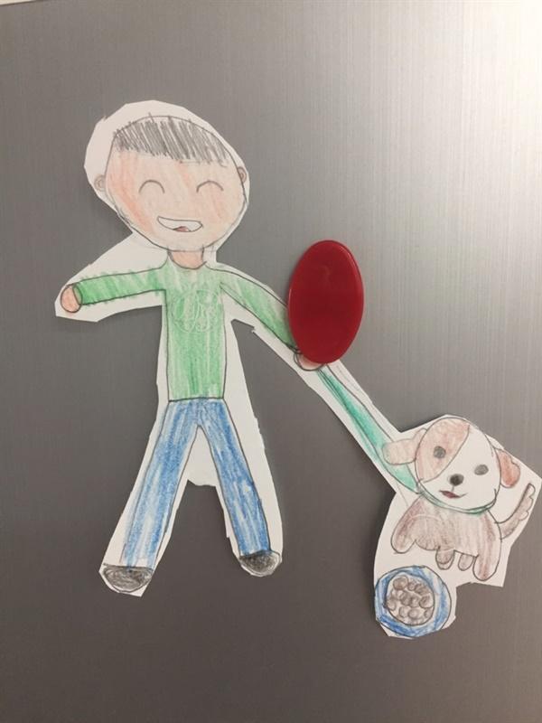 아들의꿈 시골에서 강아지 키우며 살고 싶다는 아들의 꿈을 그린 캐릭터