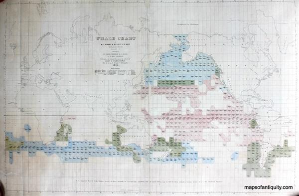 고래 해도 1851년 미해군성 수로국에서 제작