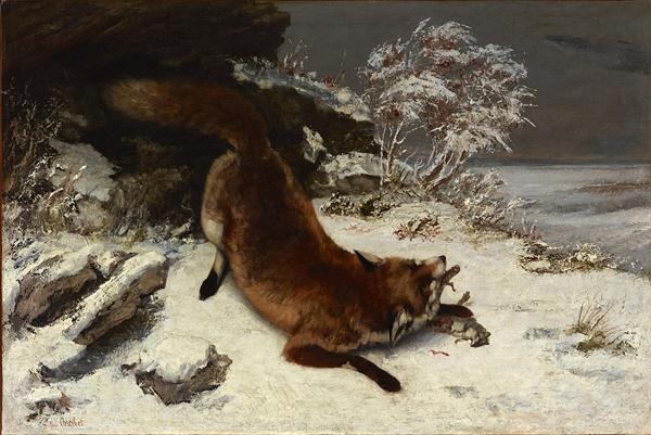 눈 위의 여우(1860) 구스타프 쿠르베 Source: Wikimedia Commons
