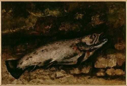 송어(1873) 구스타프 쿠르베 Source: wikiart.org