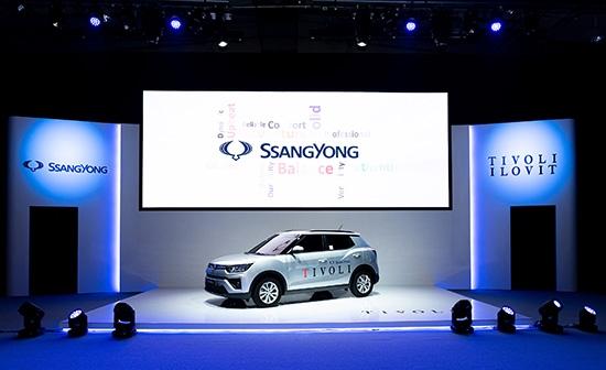 쌍용자동차가 지난 13일 유럽시장에 선보인 티볼리 G1.2T.