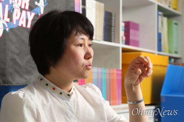 한국여성노동자회 배진경 대표.