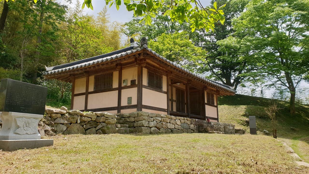 화순 증동마을에 복원돼 있는 임노복의 집. 한말 의병들의 지휘본부였고, 군량미 비축창고 역할도 했던 집이다.