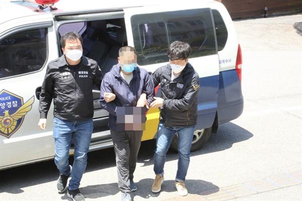 31일 밤 10시50분경 광주광역시 역전 파출소에 자수한 태안보트 밀입국 용의자 B씨(49세) 태안해경으로 오늘 1시30분경 압송됐다.