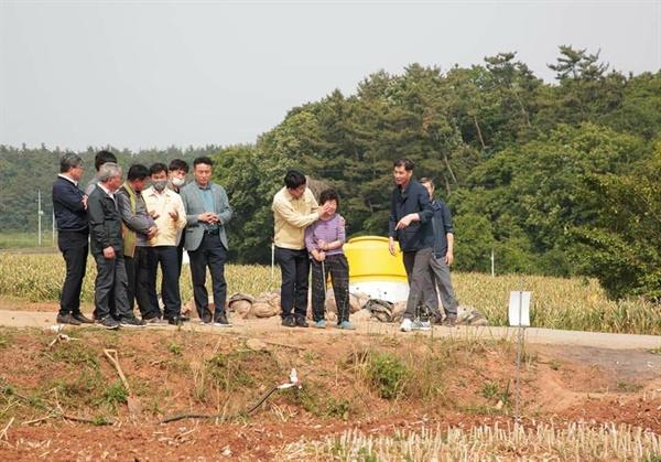 마늘 가격이 폭락하자 마늘 재배농가는 트랙터를 이용해 마늘밭을 엎었다.  애써 키운 마늘밭을 갈아엎는 동안 이를 지켜보던 한 농민은 눈물을 보이기도 했다.