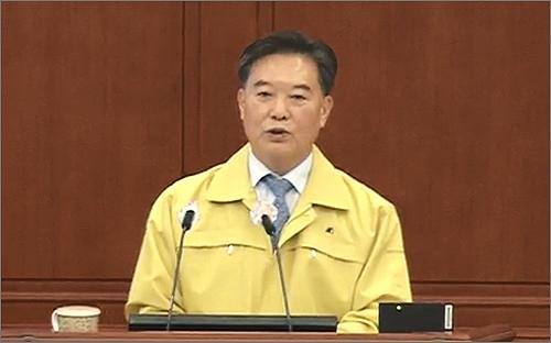 시정질의를 하고 있는 대전시의회 남진근 의원(화면 갈무리).