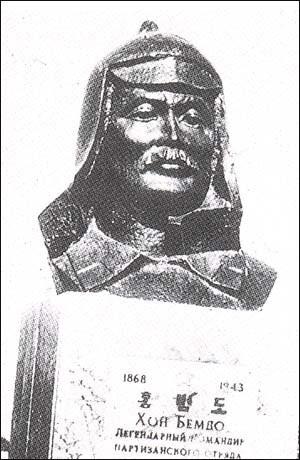 카자흐스탄 크즐 오르다, 홍범도 묘지에 세워진 흉상.
