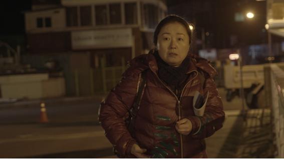 <바람의 언덕> 촬영현장에서. 정은경 배우