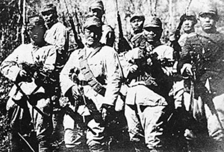 동북항일연군 제1로군 제2방면 군사들