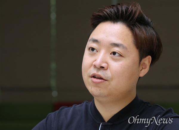 미래통합당 정원석 비상대책위원이 12일 서울 여의도 국회에서 <오마이뉴스>와 인터뷰하고 있다.