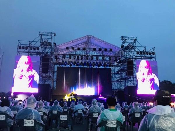 평창 올림픽메달플라쟈에서 열린 2회 평창국제평화영화제
