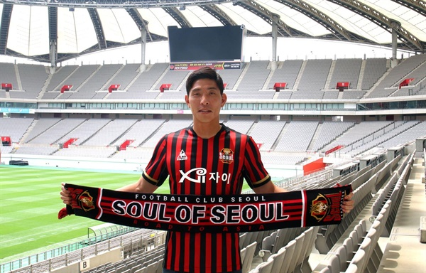 5연패에 빠진 프로축구 K리그1(1부) FC 서울이 서울이 윤영선을 올해까지 임대 영입했다고 23일 발표했다. 사진은 서울에 임대 영입된 윤영선.