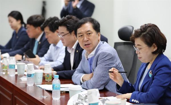 미래통합당 김기현 의원이 지난 19일 오전 국회 의원회관에서 공부모임을 열고 인사말을 하고 있다.