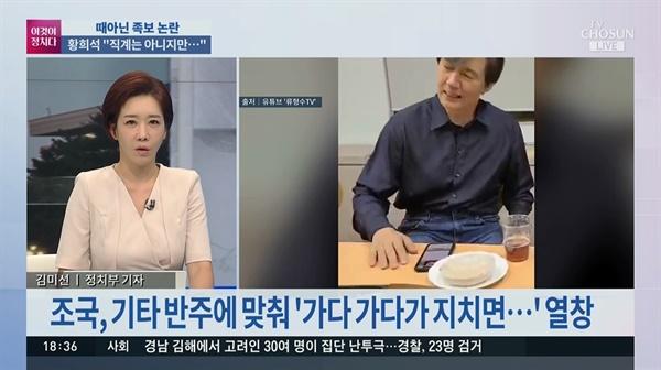 조국 전 법무부 장관의 노래 영상 상세히 설명한 김미선씨, TV조선 < 이것이 정치다 >(6/23)