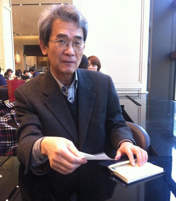 김종철 선생님과 함께  서울 카페에서 차를 마시며 담소를 나눌 때