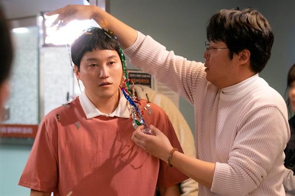 tvN 드라마 <슬기로운 의사생활>의 현장 사진.