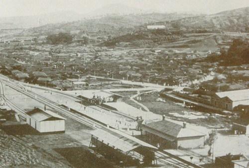 경성정거장의 개통 당시 모습.