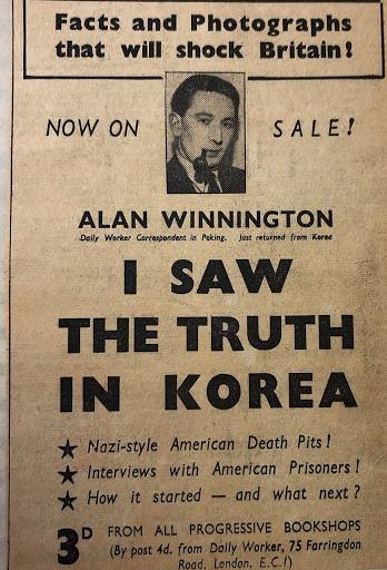 """당시 영국인 언론인 알란 위닝턴(Alan Winnington)은 """"1950년 7월 17일 동이 틀 무렵 재소자들의 학살이 이어졌다. 그 전날인 7월 16일에 민간인 100명씩 실은 트럭 37대가 골령골계곡으로 이동했으며, 여성을 상당수 포함한 인원 3700명이 살해되었다""""며 1950년 그의 기사 '한국에서 진실을 보았다(I saw the Truth in Korea)에 기록했다."""
