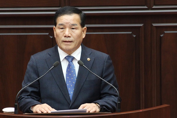 남북교류협력특위 위원장인 더불어민주당 신상해 부산시의원.