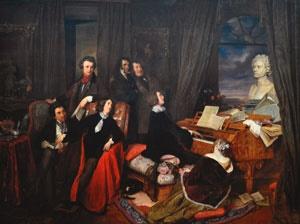 피아노를 치는 리스트', 요제프 단하우저, 1840년, 독일 베를린 국립미술관