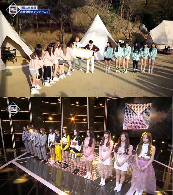 JYP가 일본 내 신인 걸그룹(니쥬) 데뷔 오디션으로 진행한 '니지 프로젝트'의 주요 장면