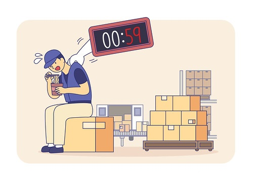 물류센터 상하차 업무 종사노동자들은 대부분 단기 아르바이트 형태로 고용되어 일하면서 제대로 된 교육이나 관리를 받지 못한 채 고강도, 장시간, 야간노동에 시달리고 있다.