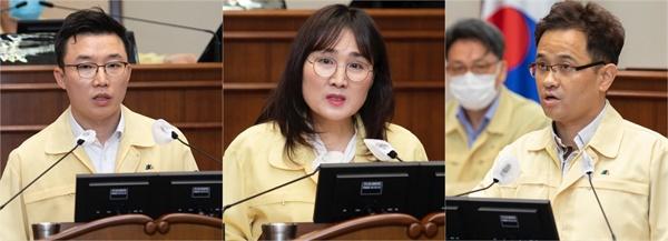 (왼쪽부터) 양기열 의원, 박세은 의원, 신봉규 의원 (사진: 정민구 기자)