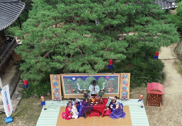 함양 개평한옥마을 일두 정여창 고택에서 열린 전통혼례식.