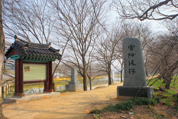 천연기념물 제366호 '담양 관방제림'의 입구