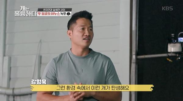 지난 13일 방송된 KBS2 <개는 훌륭하다>의 한 장면