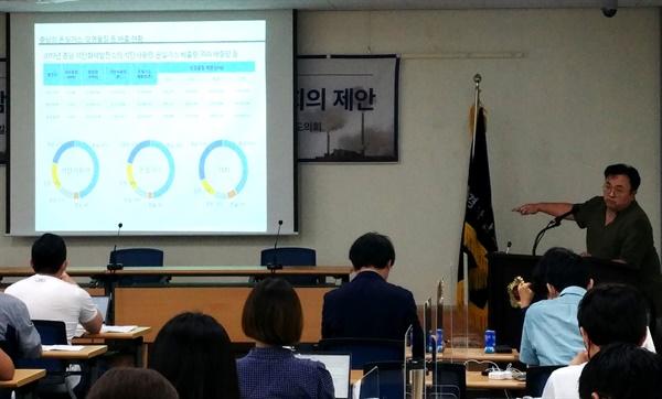 전국 탈석탄 네트워크(준)는 7월 15일 오전 경남도의회 대회의실에서 '탈석탄 세미나'를 열었다.