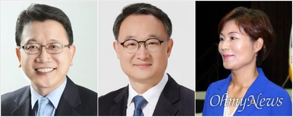 더불어민주당 대구시당위원장 출마를 선언하거나 선언을 준비 중인 강민구·김동식·김혜정 대구시의원.