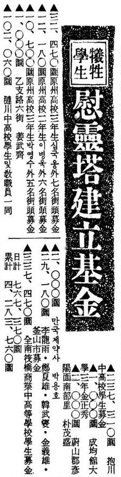 4.19혁명 당시 영등포고 1학년이었던 한무섭은 친구 이광국이 경무대 앞에서 부상당한 후 서울대병원에 입원했다는 소식을 듣고 울분을 참지 못해 동네 친구 정하웅, 이용우, 김의웅과 함께 부상자들을 돕기 위한 모금활동을 벌였다.(<동아일보> 1960년 5월 3일자 기사)