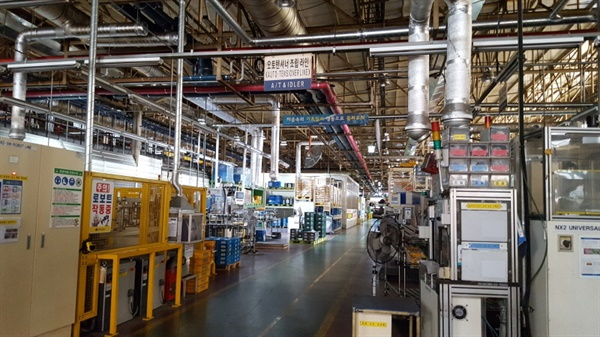 6월 26일 폐업통보 이후 멈추어버린 대구 한국게이츠 공장