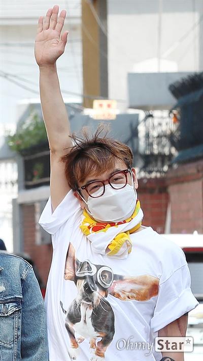 크라잉넛, 데뷔 25주년! 데뷔 25주년을 맞은 크라잉넛의 이상혁(드럼)이 7일 오후 서울 마포구에 위치한 연습실에서 인터뷰에 앞서 포즈를 취하고 있다.