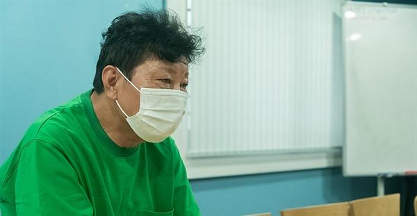 7월 7일 IZM과 부평구문화재단이 진행하는 프로젝트 일환으로 인터뷰에 임한 백영규.