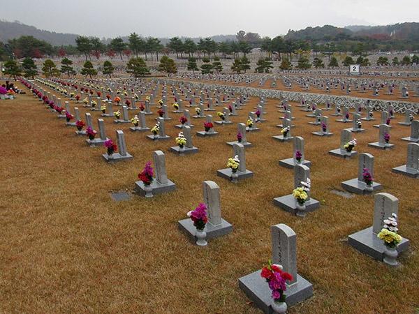주시경 선생의 묘소가 있는 서울 현충원